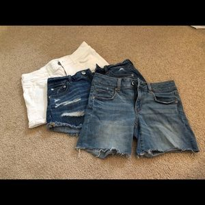 3 American Eagle Jean Shorts all size 4